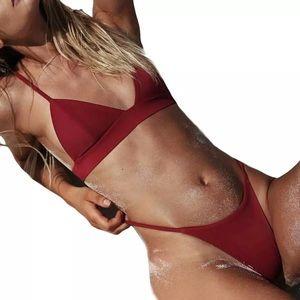 Other - 🆕Kendra Wine Red Triangle Bikini Top